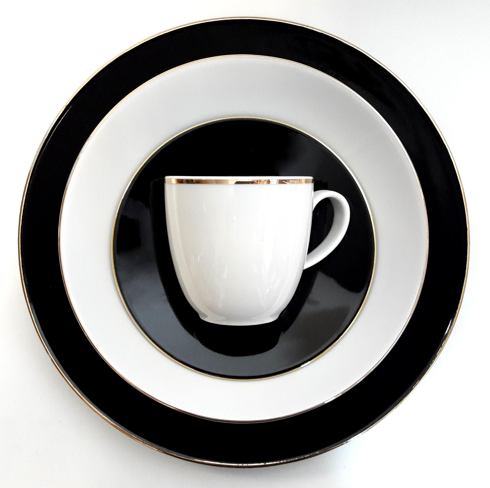 Porcelana Łódź Black&white