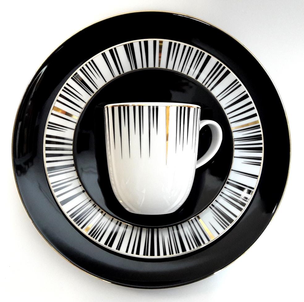 Porcelana Łódź Black&gold