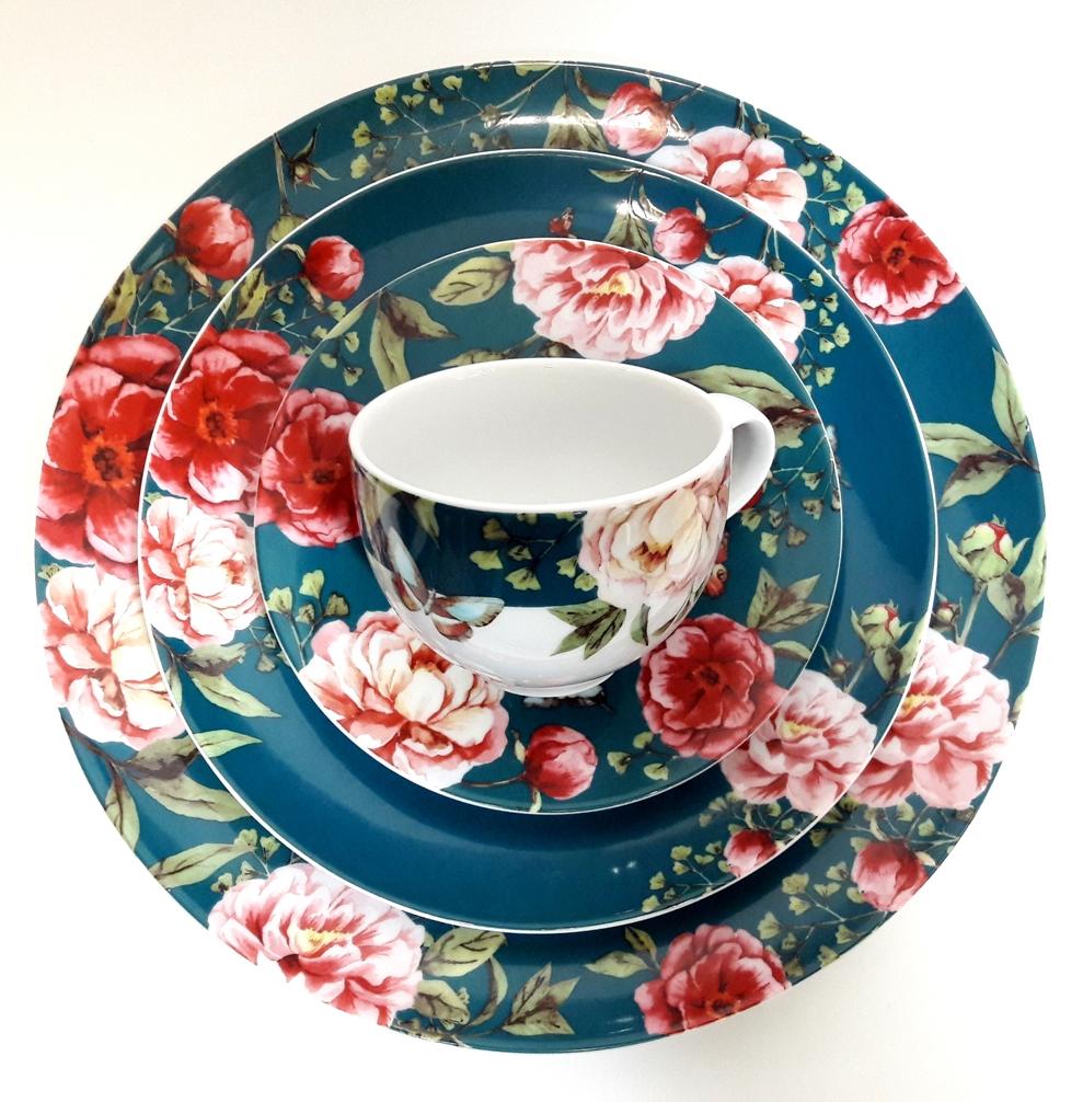 Porcelana Łódź Petrol Blue