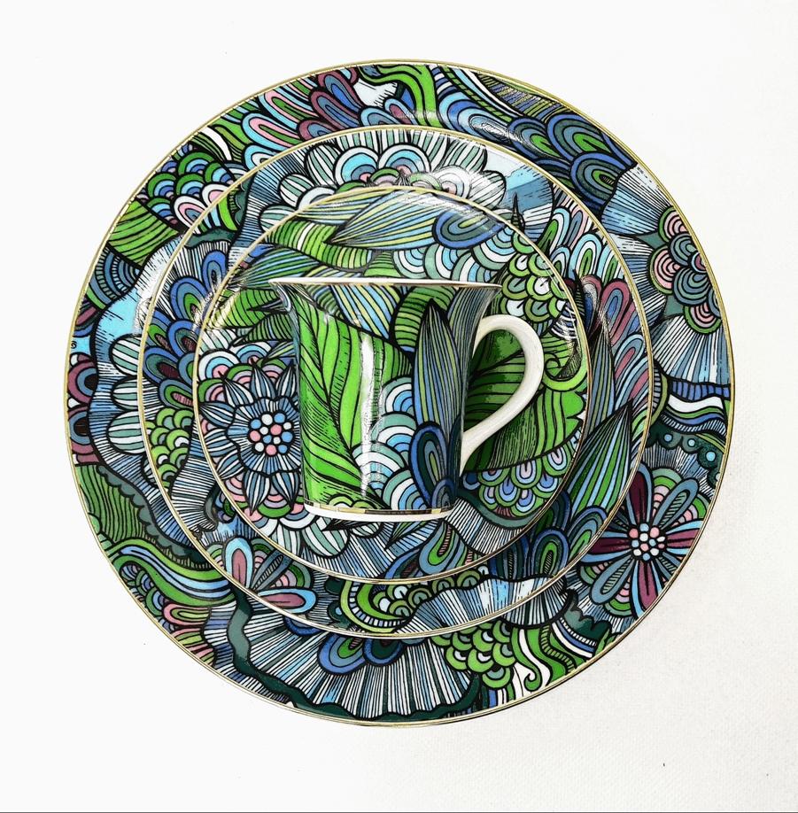 Porcelana Łódź Fargo Blue