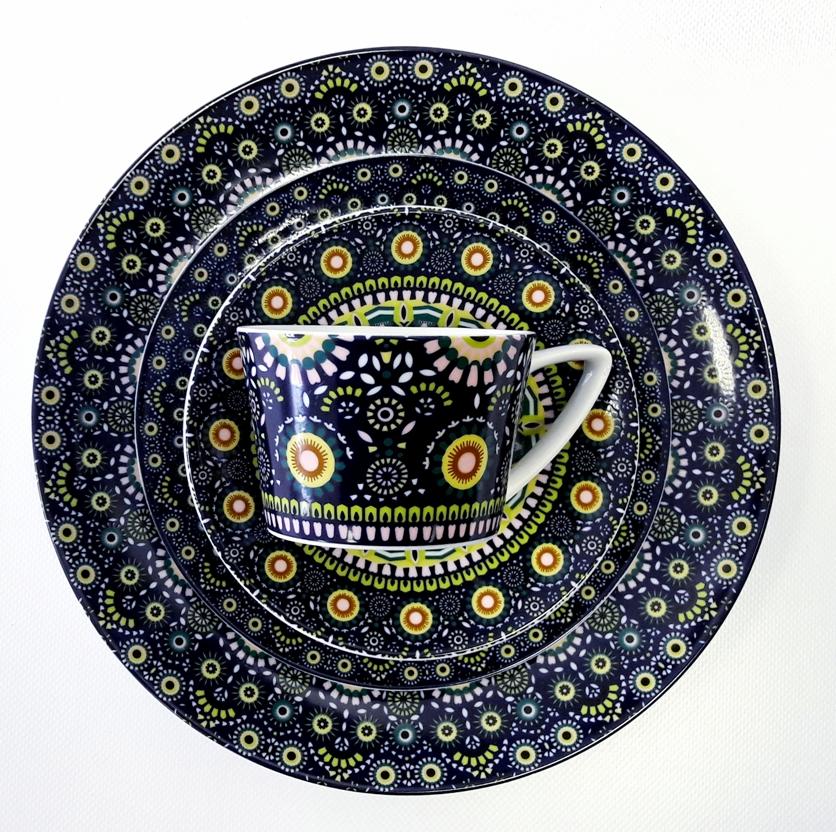 Porcelana Łódź Folk