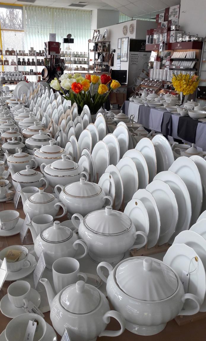 Porcelana Łódź Talerze